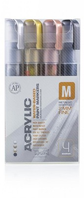PACK 4 ACRYLIC METAL 2MM