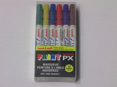 BOITE 12 MARKERS UNIPAINT PX-21
