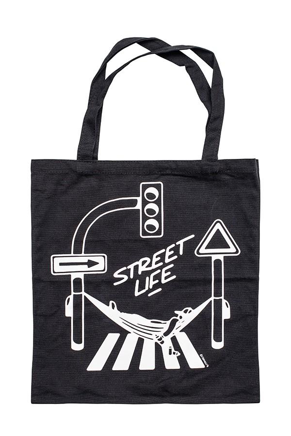 SAC COTON MONTANA STREET LIFE NOIR