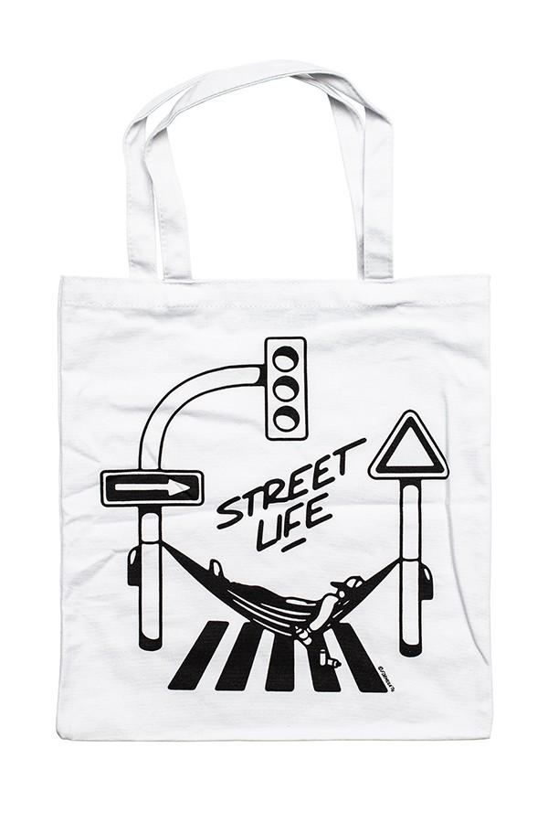 SAC COTON MONTANA STREET LIFE BLANC