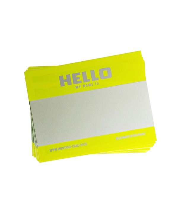 PACK STICKERS MY NAME IS JAUNE FLUO