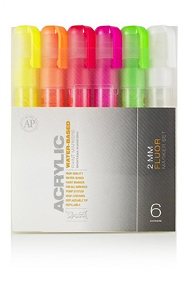 PACK 6 ACRYLIC FLUO 2MM