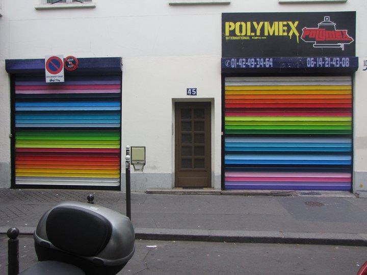 Le magasin Polymex rue de la Chapelle à Paris